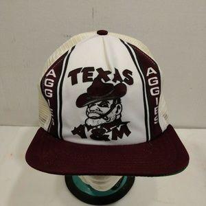 Texas A&M Snapback Cap Hat Ol Sarge Maroon White